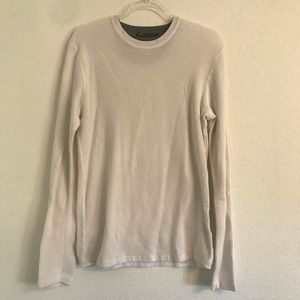 Vince men's white thermal long sleeve top Large